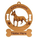 4249 Xoloitzcuintli Standing Ornament Personalized with Your Dog's Name